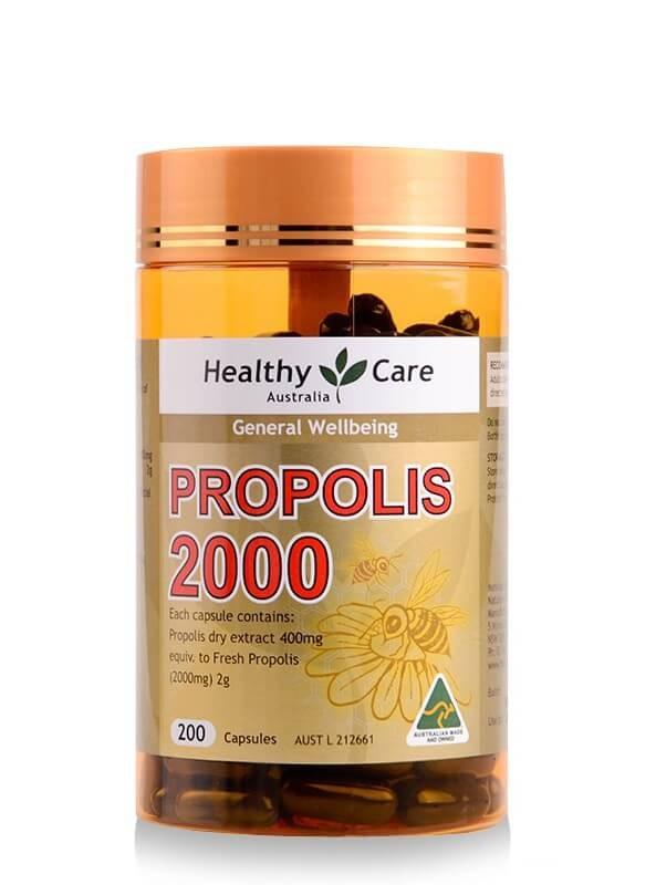 Healthy Care Propolis 天然蜂膠膠囊 [2000mg] [200粒]