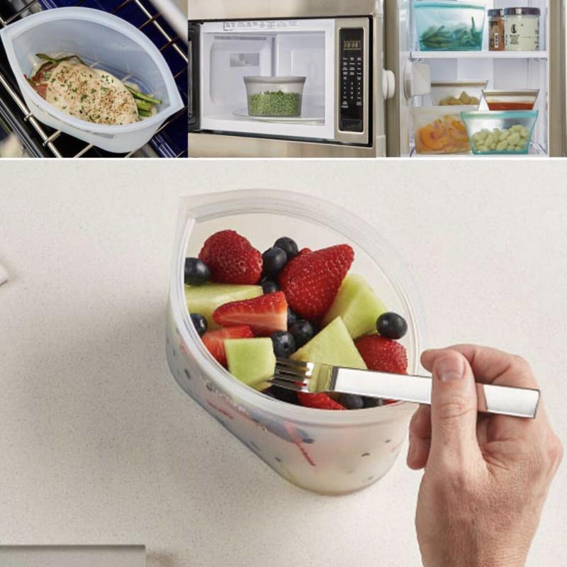 環保矽膠拉鍊式食物儲存保鮮袋