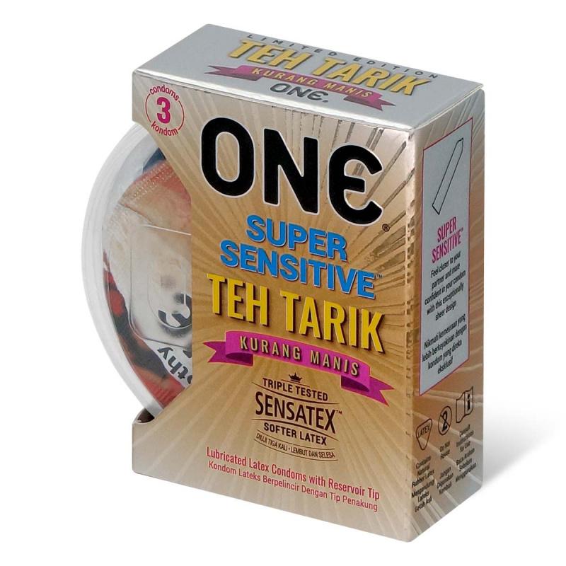 ONE 馬來西亞拉茶香味 乳膠安全套 [ 3片裝]