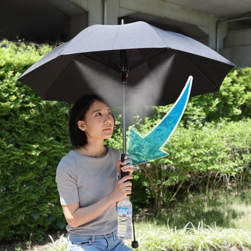 Thanko 創新設計三合一電風扇噴霧雨傘