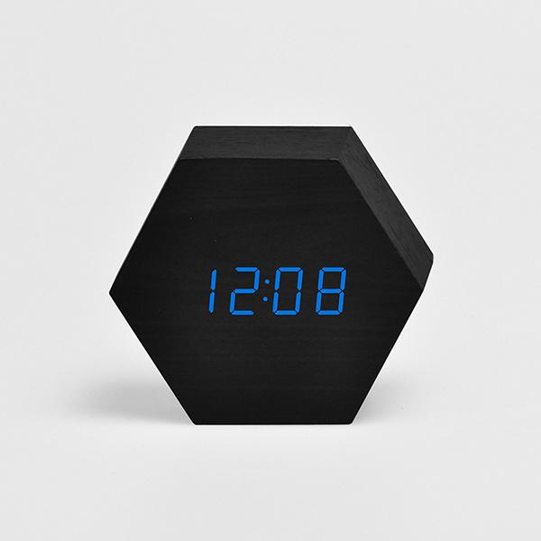 TSK - 時尚創意LED木質靜音電子鬧鐘