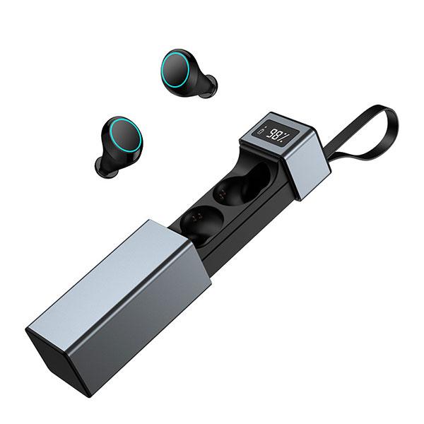 TSK - 迷你運動入耳式數字顯示電量無線藍牙5.0耳機