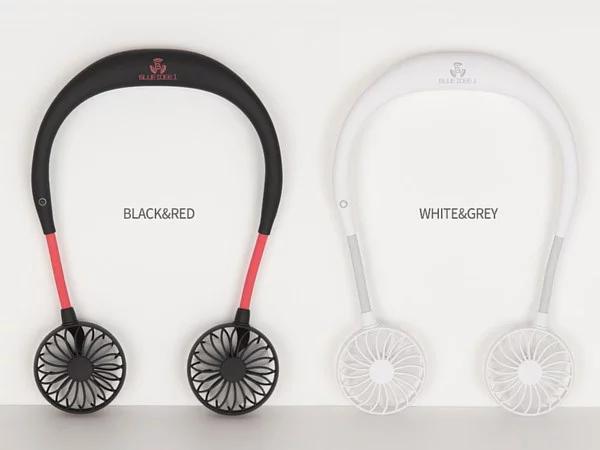 韓國 Blueidee 頸掛式雙頭USB風扇 BI-NF1