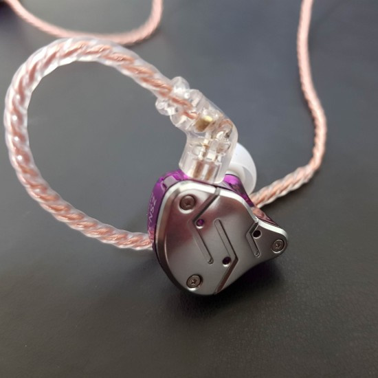 KZ ZSN PRO 圈鐵耳機 (升級雙磁動圈、有MIC可通話, 2PINS可換線) [黑色]