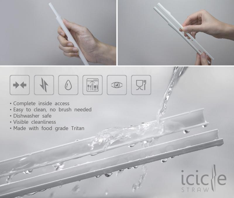 Icicle Straw 便攜推拆式飲管 (2支裝)