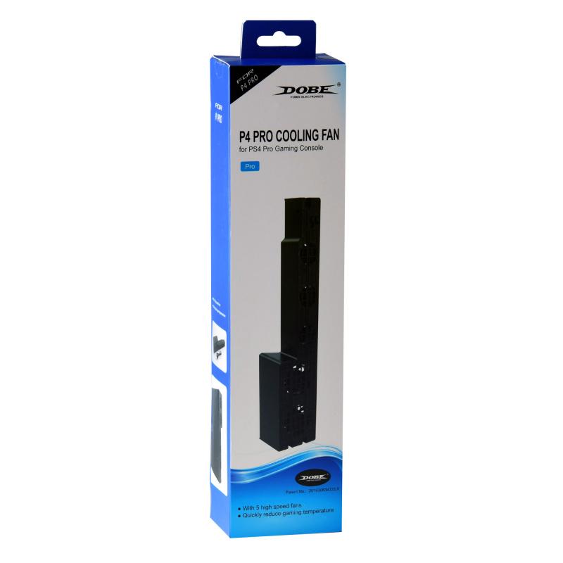 DOBE PS4 Pro主機外置散熱風扇 溫控散熱風扇 自動恒溫散熱器 後置風扇 黑色