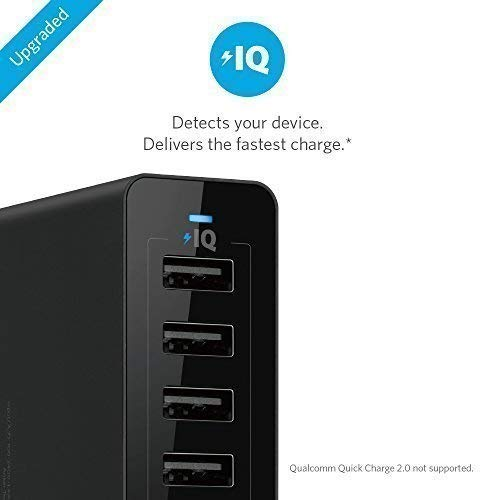 Anker PowerPort 10 60W 10 port Charger - Black