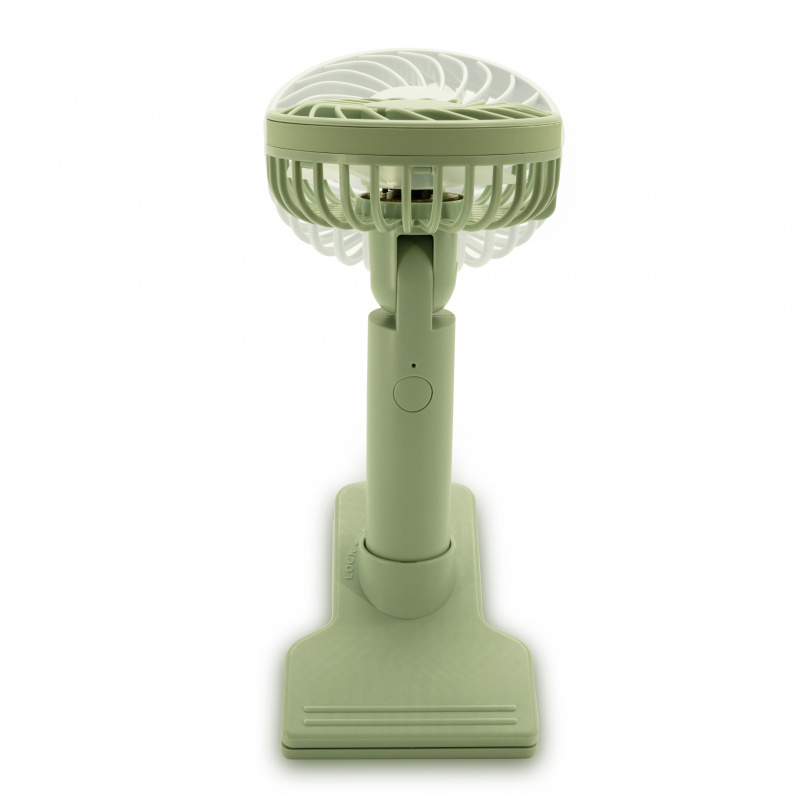 ecHome 充電座檯夾式手提風扇 [綠色] (PFC1200GR)