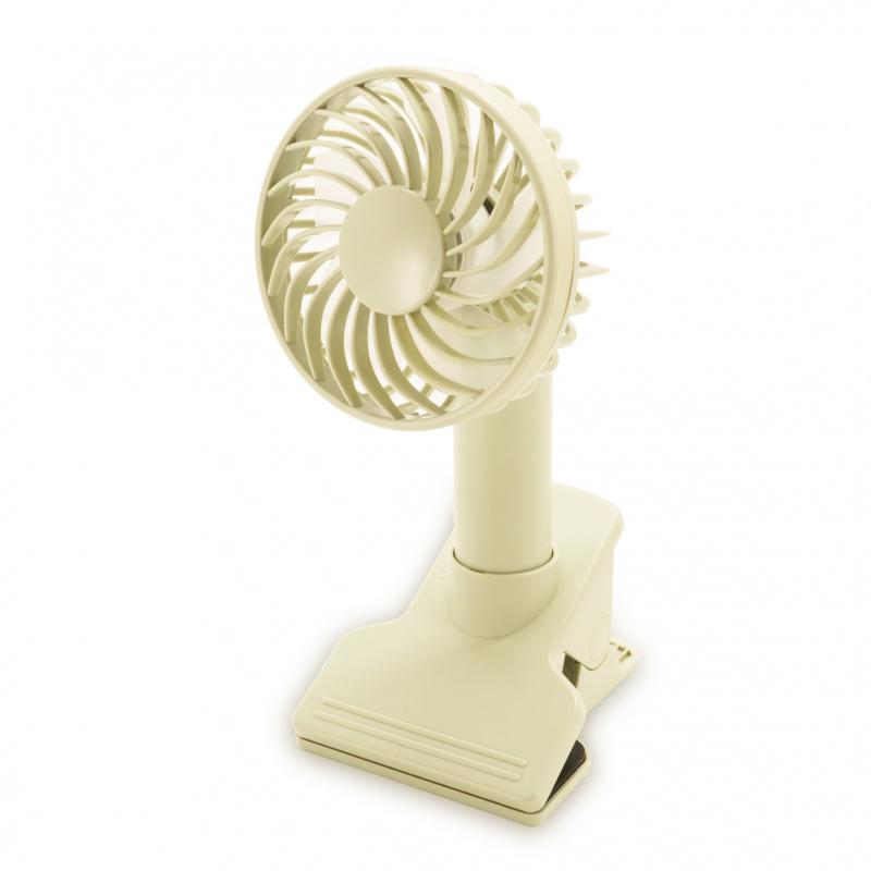 ecHome 充電座檯夾式手提風扇 [米白色] (PFC1200W)