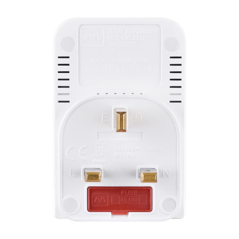 英國Masterplug - 開關插座 3插位插蘇 獨立開關和電源指示器 13A保險絲 MSWG3