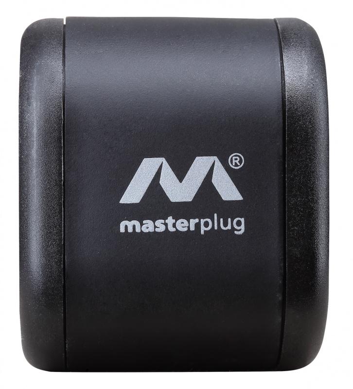 Masterplug - Tower 10位x13A 2米防雷拖板 可直立或水平擺放 黑色 獨特設計 節省儲存空間 SRGTOW102B Surge Protected 10 Sockets 2M Extension Leads