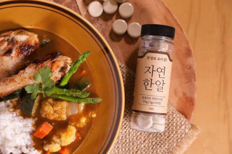 自然一丸・得奬・韓國・無味精・海產蔬菜上湯 3克 X 30片