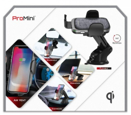 【香港行貨】 MAGIC PRO ProMini Qi15M - 15W [2色] QiAutoMount wireless Car Charger 無線快速充電車架