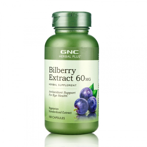 GNC Herbal Plus 特強護眼濃縮山桑子(歐洲藍莓)精華(60毫克) (100 粒)