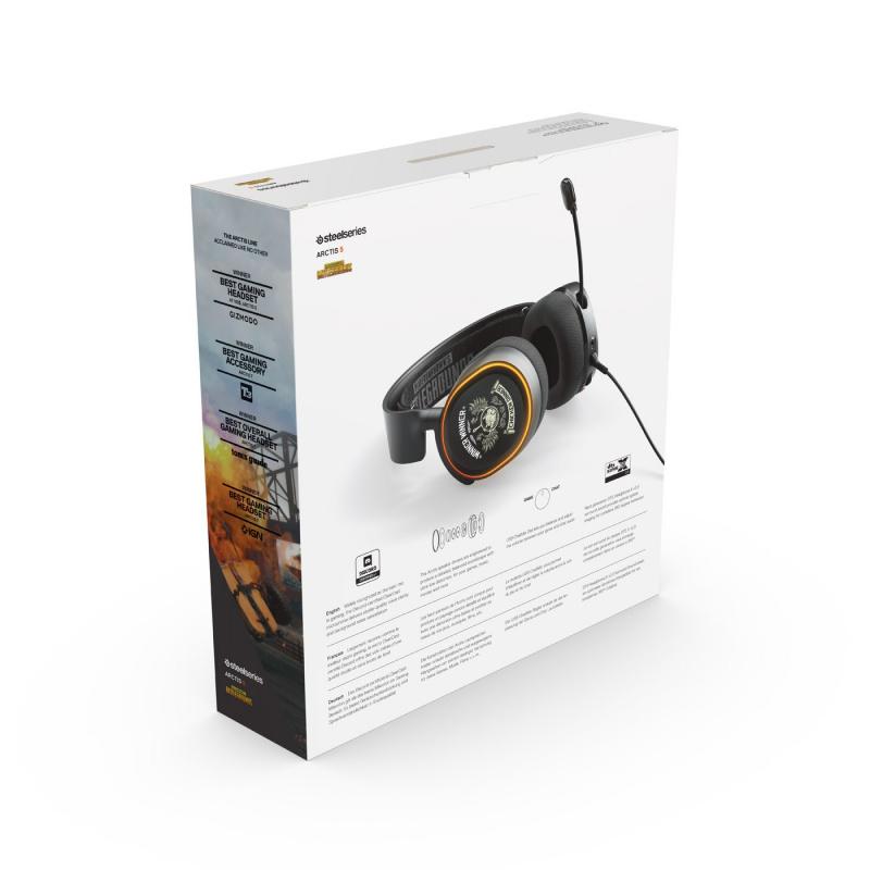 SteelSeries Arctis 5 7.1環迴音效 電競耳機[PUBG版]