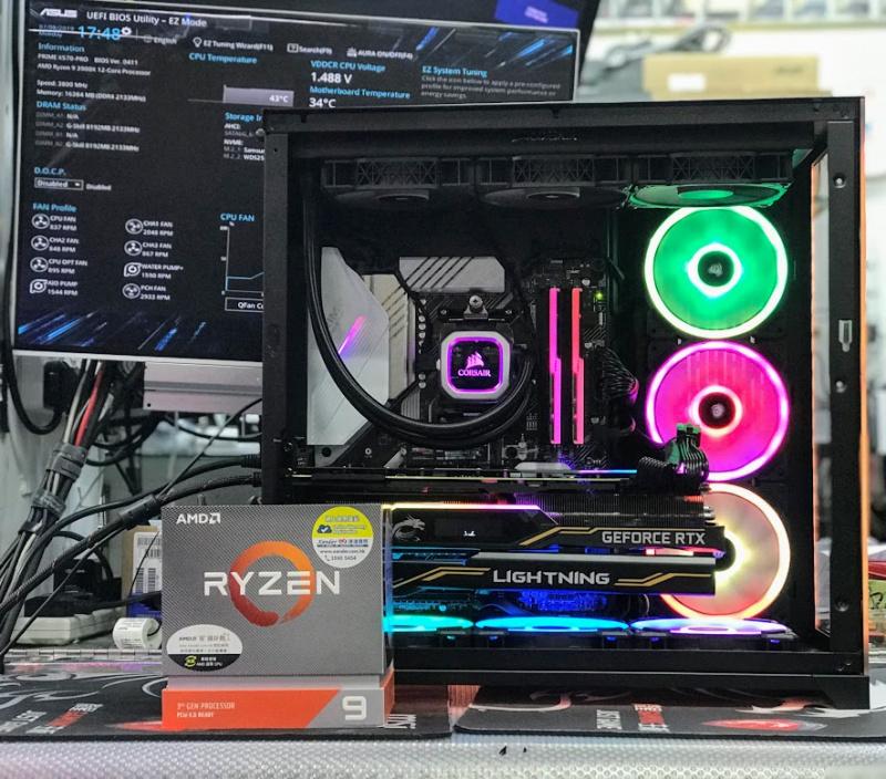 💡【7nm最強處理器】 最新AMD Ryzen 3900十二核心處理器 ASUS PRIME X570-PRO主板 G.SKILL Trident 32G 3600Mhz記憶體 Samsung 970 EVO 500G NVMe SSD Lian-Li PC-O11機箱 SEASONIC 1000W火牛 Corsair H150水冷 Whatsapp:69696926特快即日