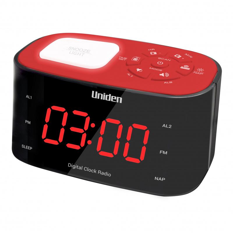 日本Uniden - 雙鬧鐘時鐘收音機 AR1303 特大顯示 有夜燈 Alarm Clock Radio