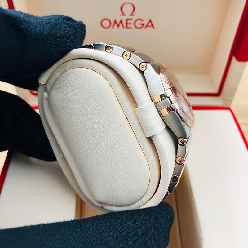 OMEGA 歐米茄 星座系列 曼克頓 28毫米 不銹鋼-玫瑰金 棕面 石英 131.20.28.60.63.001