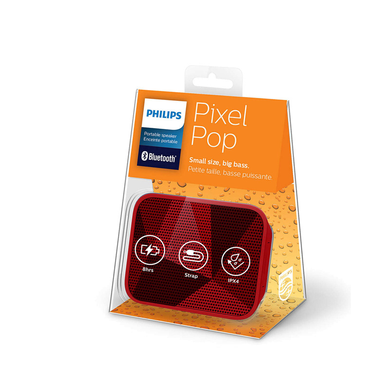 Philips - 便攜式藍牙喇叭 BT110R/00 (紅色) PixelPop Wireless Portable Bluetooth Speaker (Red)