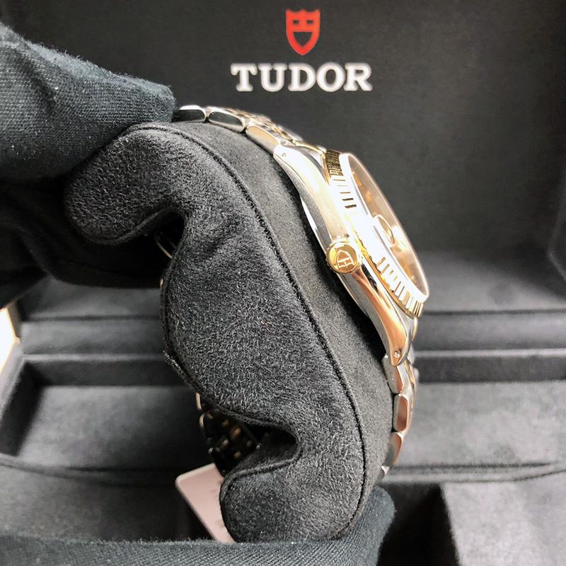 Tudor/帝舵 Prince Date Day 36mm 黃金-不銹鋼 香檳面 自動機械 M76213-0016