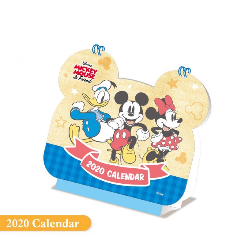 2020年卡通座檯月曆 (迷你兵團/Disney迪士尼/多啦A夢/熊本熊)