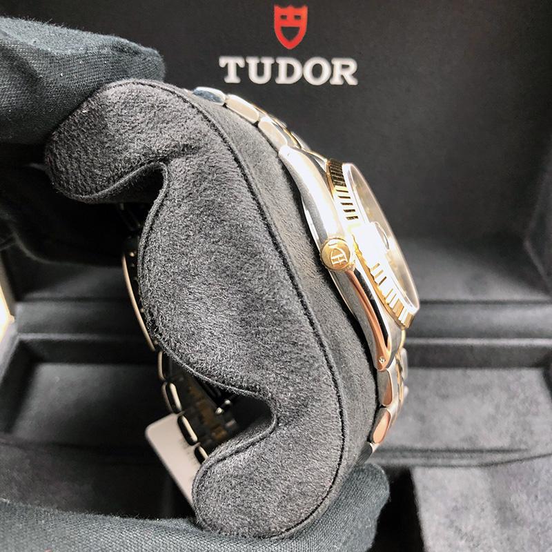 Tudor/帝舵 Prince Date Day 36mm 黃金-不銹鋼 銀面 自動機械 M76213-0019