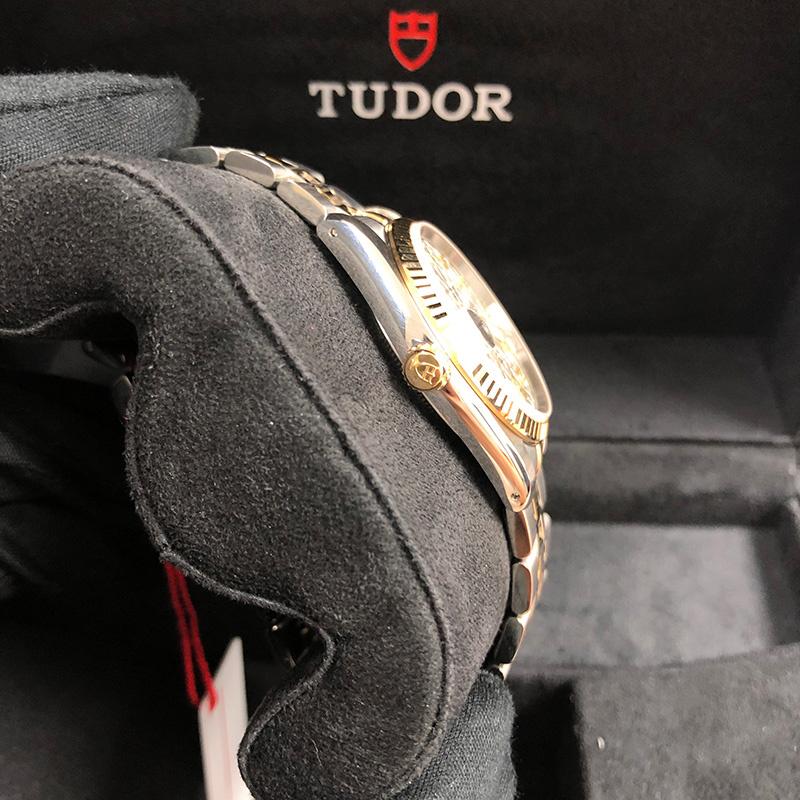 Tudor/帝舵 Prince Date 34mm 不銹鋼-黃金 銀面 自動機械 M74033-0006