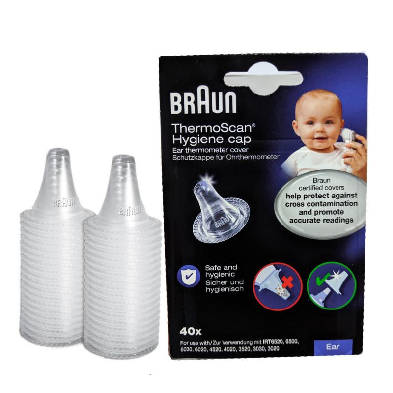 百靈牌 BRAUN - 耳溫槍專用耳套40個 (原裝盒) 美國製造 (適用於IRT3030, IRT6030, IRT6520 等系列耳溫計) LF40 ThermoScan Hygiene Cap 40pcs (For Braun Thermometer IRT3030, IRT6030, IRT6520) Made in USA
