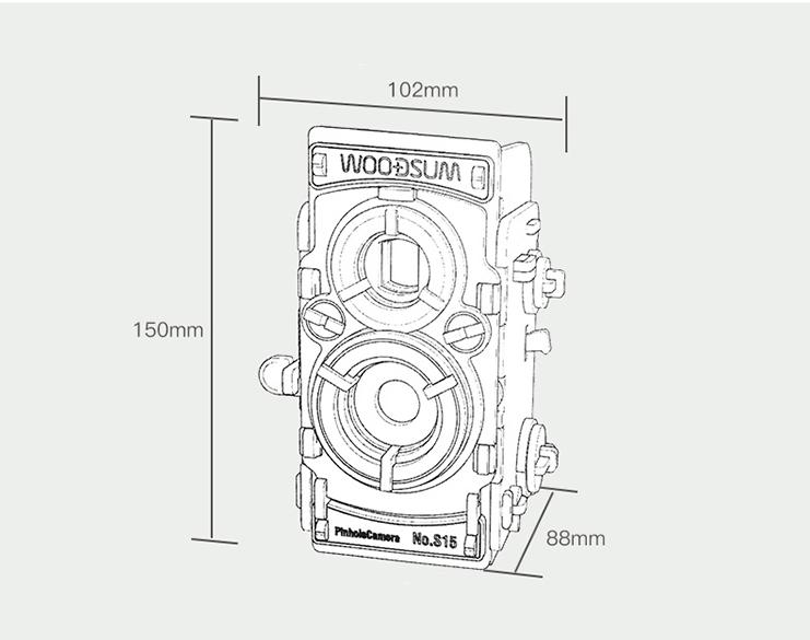 WOODSUM 木質雙鏡相機