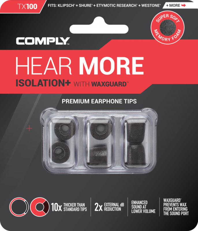 Comply Tx 系列 記憶泡綿耳塞 (3-pair) Tx100/200/400/500