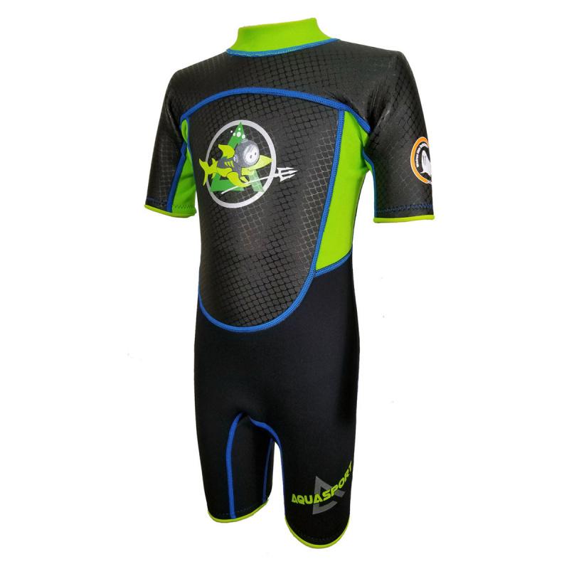 Aquasport 3.0mm 兒童鯨脂橡膠保暖衣-綠