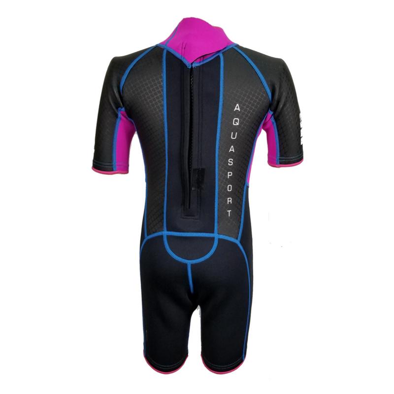 Aquasport 3.0mm 兒童鯨脂橡膠保暖衣-粉紅
