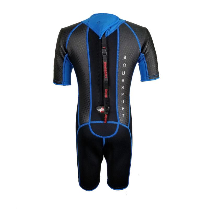 Aquasport 3.0mm 兒童鯨脂橡膠保暖衣-藍