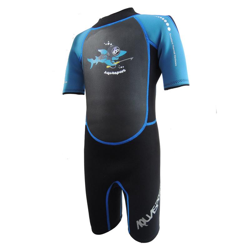 Aquasport 3.5mm 兒童保暖衣-藍