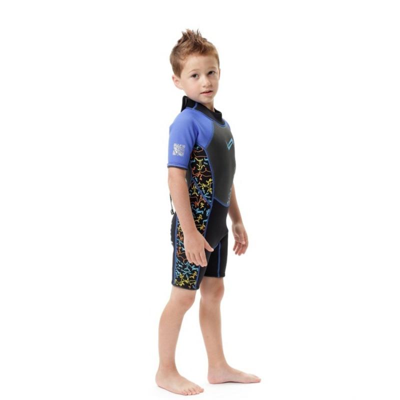 Water Pro 3.5mm 兒童保暖衣-藍