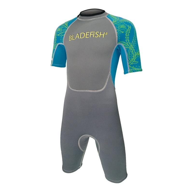 Bladefish 2.2mm 兒童保暖衣-灰/藍
