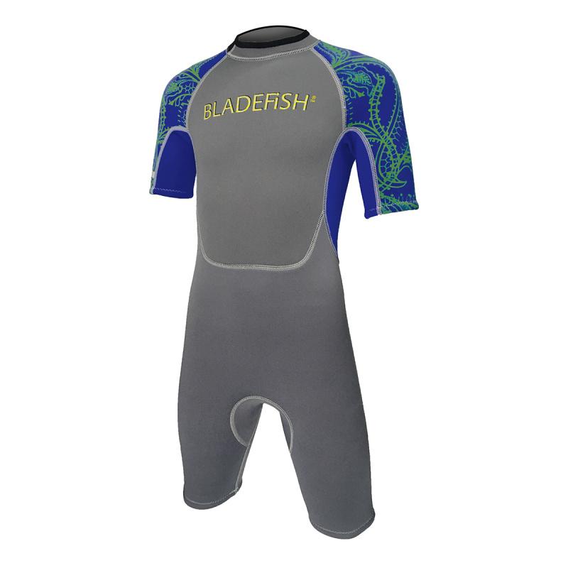 Bladefish 2.2mm 兒童保暖衣-灰/深藍