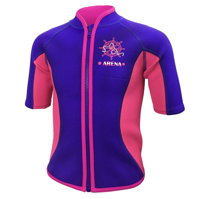 Arena 兒童保暖夾克-紫
