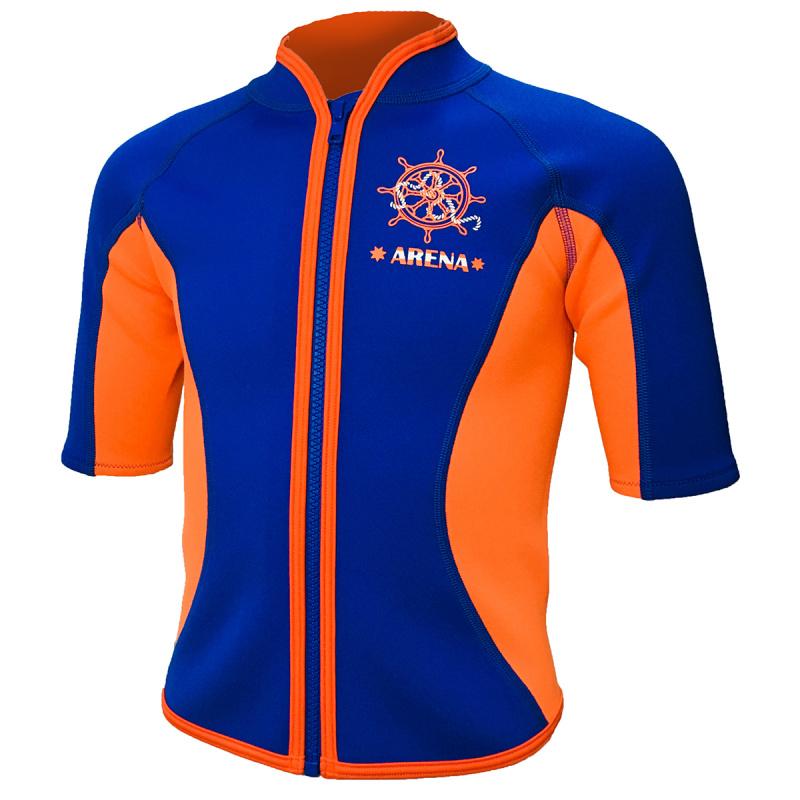 Arena 兒童保暖夾克-藍