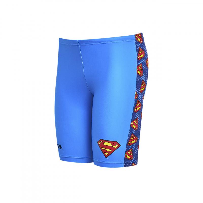 Zoggs 男童超人五分泳褲-藍/紅