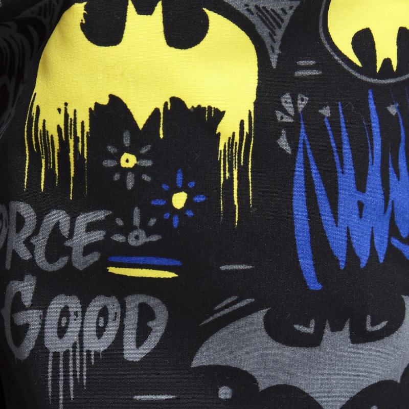 Zoggs 男童蝙蝠俠印花短褲-黑/黃