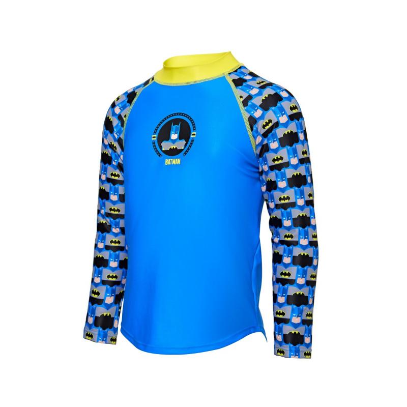 Zoggs 兒童蝙蝠俠長袖防曬上衣-藍/黃