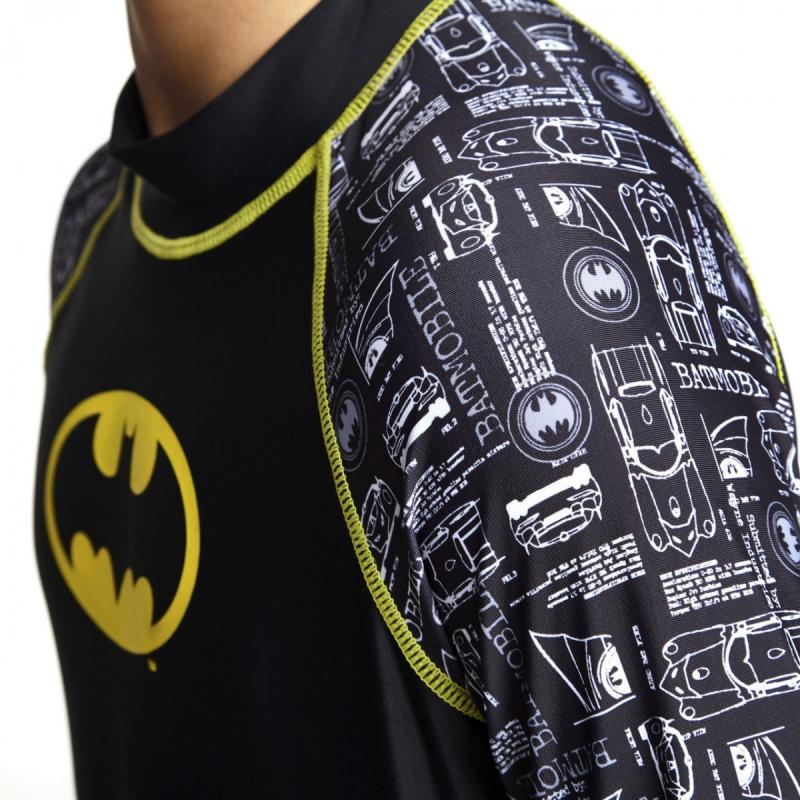 Zoggs 青少年蝙蝠俠長袖防曬上衣-黑/黃