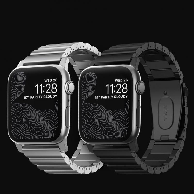 美國Nomad Titanium Edition For Apple Watch專用鈦合金錶帶