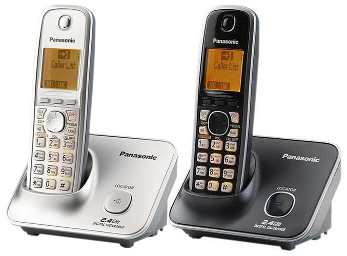 Panasonic - KX-TG3711 室內高頻無線電話 2色可選(黑色/銀色)  2.4 GHz DECT Indoor Digital Cordless Phone Black/ Silver