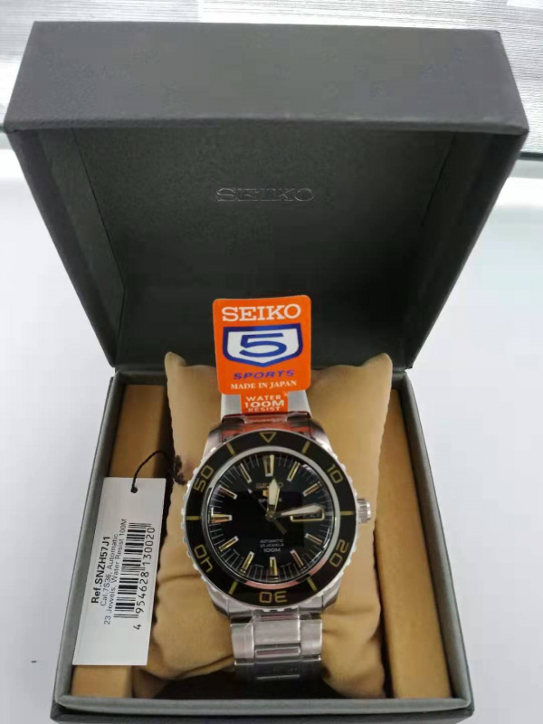 Seiko 5 Sport SNZH57J1 Automatic Mechanical Watch, 精工5 Sport SNZH57J1自動機械手錶  Made in Japan 日本製 100M 防水