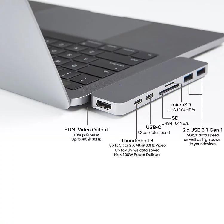 "HyperDrive DUO 7-in-2 轉換器 USB-C Macbook Pro 13""/15"""