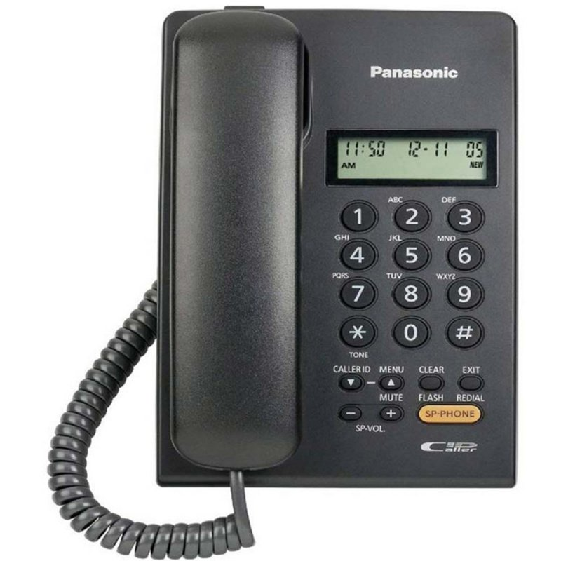 Panasonic - KX-TSC62SX  來電顯示 室內有線電話 黑白2色可選 Single Line Caller ID Corded Telephone Black White
