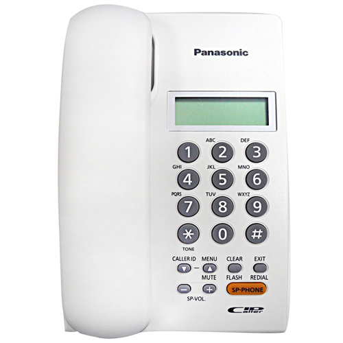 Panasonic - KX-TSC62SX 來電顯示 室內有線電話 黑白2色可選 Single Line Caller ID Corded Telephone Black White