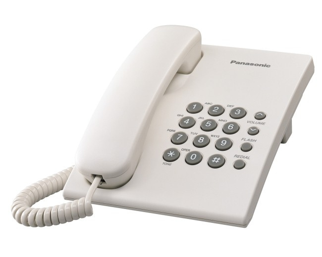Panasonic - KX-TS500MX 室內有線電話 4色可選 (黑/白/藍/紅) Single Line Corded Telephone Black/White/Red/Blue
